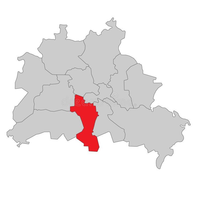 德国-柏林地图-高详细 库存例证
