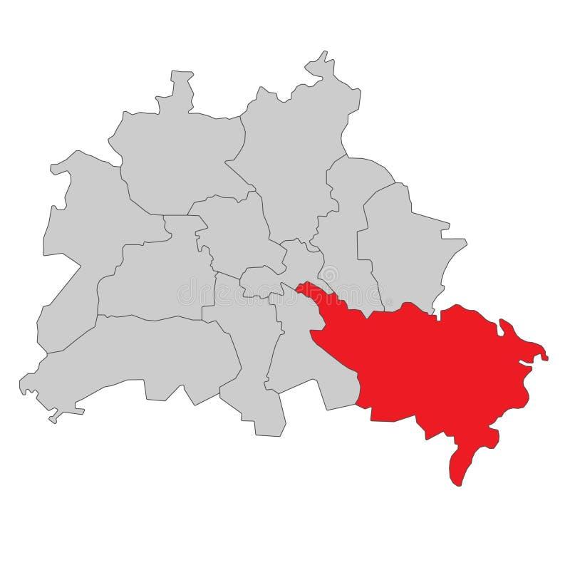 德国-柏林地图-高详细 皇族释放例证