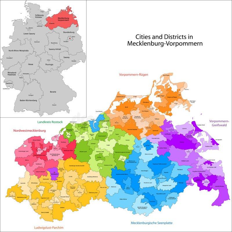 德国-梅克伦堡福尔波门状态  库存例证