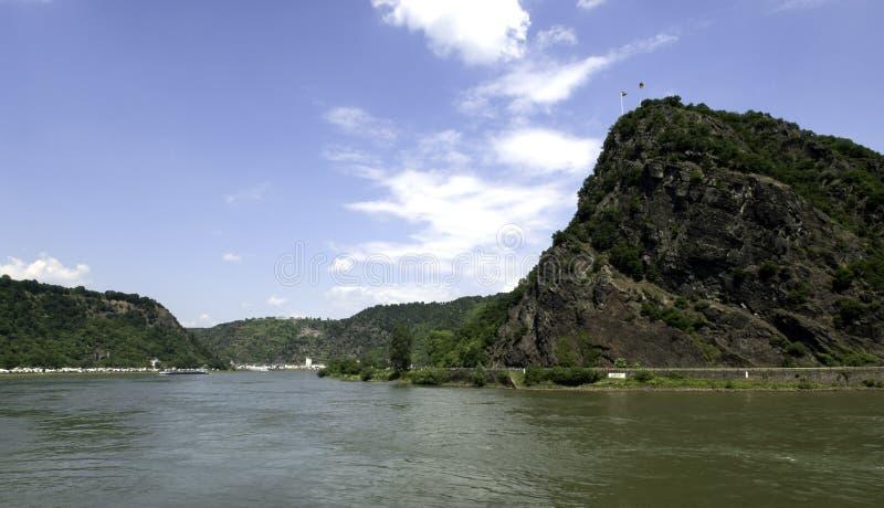 德国loreley莱茵河岩石谷 库存图片