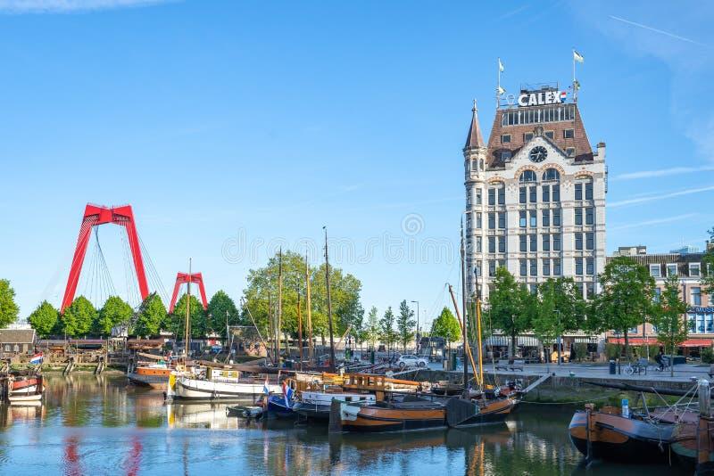 德威特Huis一个国家重点文物站点在鹿特丹,荷兰 免版税库存照片
