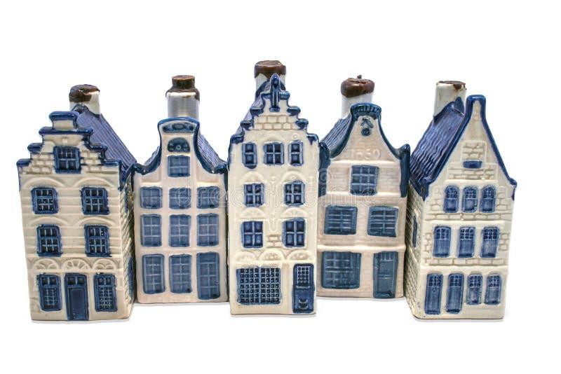 德尔福特蓝色房子行  免版税库存图片