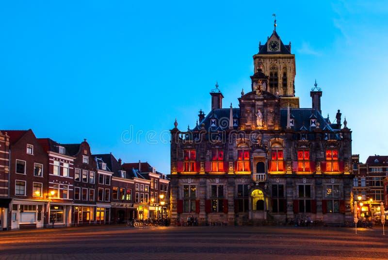 德尔福特,荷兰城镇厅  库存照片