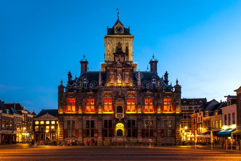德尔福特,荷兰城镇厅  免版税库存照片