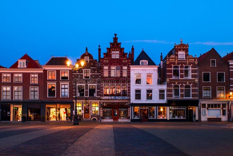 德尔福特,荷兰的市中心 免版税库存照片