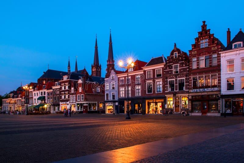 德尔福特,荷兰的市中心 免版税图库摄影