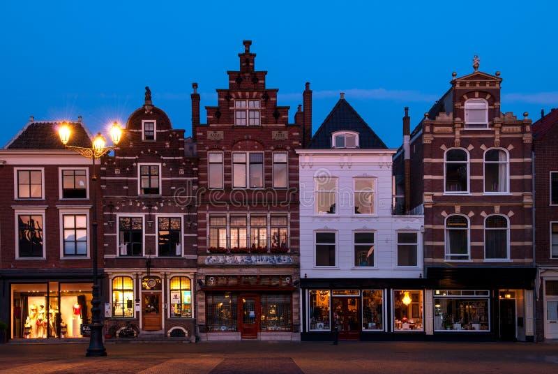 德尔福特,荷兰的市中心 免版税库存图片