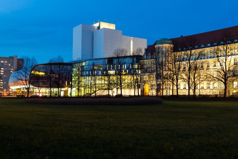 德意志国家图书馆莱比锡,德国 免版税图库摄影