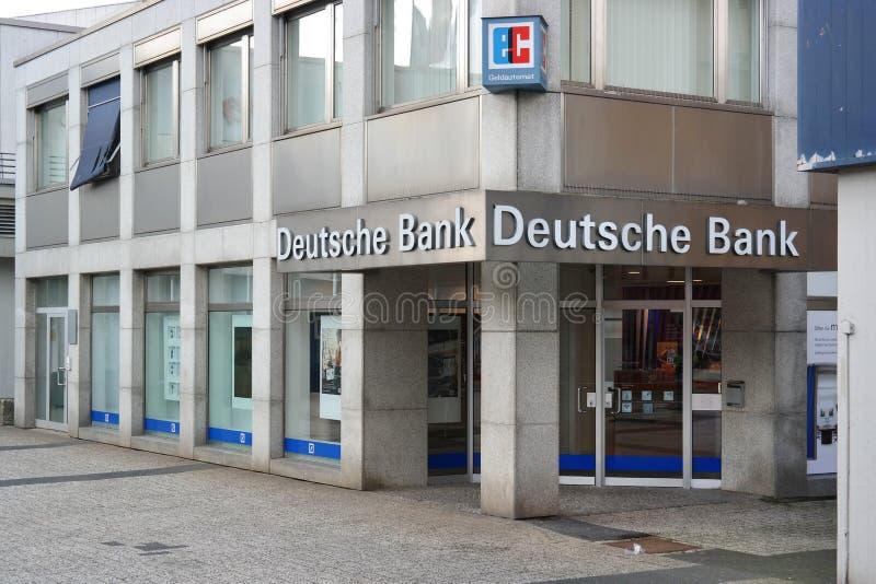 德意志银行分支  免版税库存图片
