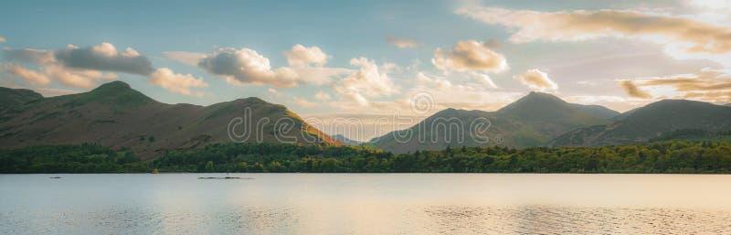 德文特湖在英国湖区 库存图片