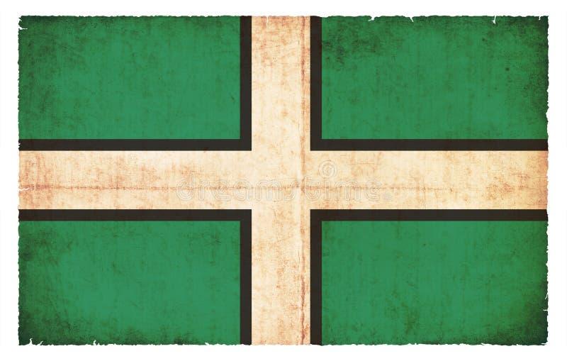 德文郡大英国的难看的东西旗子 库存例证