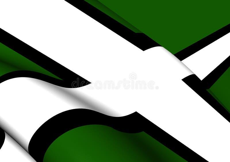 德文郡,英国的旗子 向量例证
