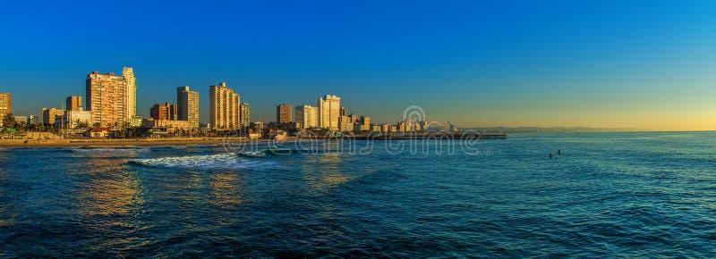 德班海滩前面南非 免版税图库摄影