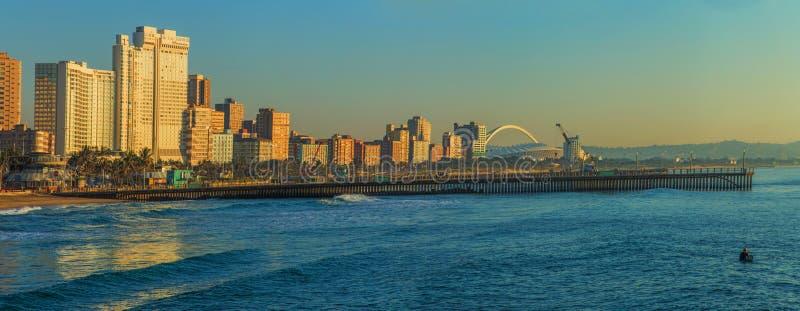 德班海滩前面南非 库存照片