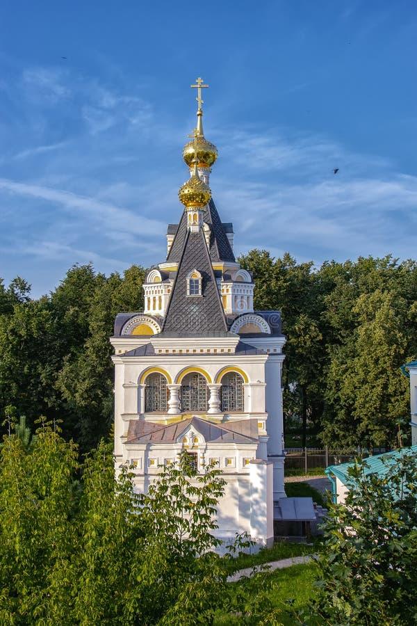 德米特罗夫,俄罗斯- 2019年7月27日:德米特罗夫克里姆林宫的伊丽莎白女王的教会 免版税图库摄影