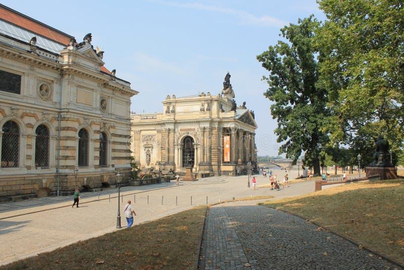 德累斯顿德国的历史的中心 库存照片