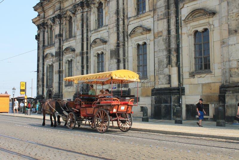 德累斯顿德国的历史的中心 免版税库存照片