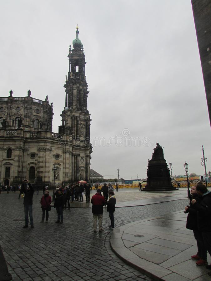 德累斯顿,德国 萨克森的首都的中世纪建筑学 库存照片