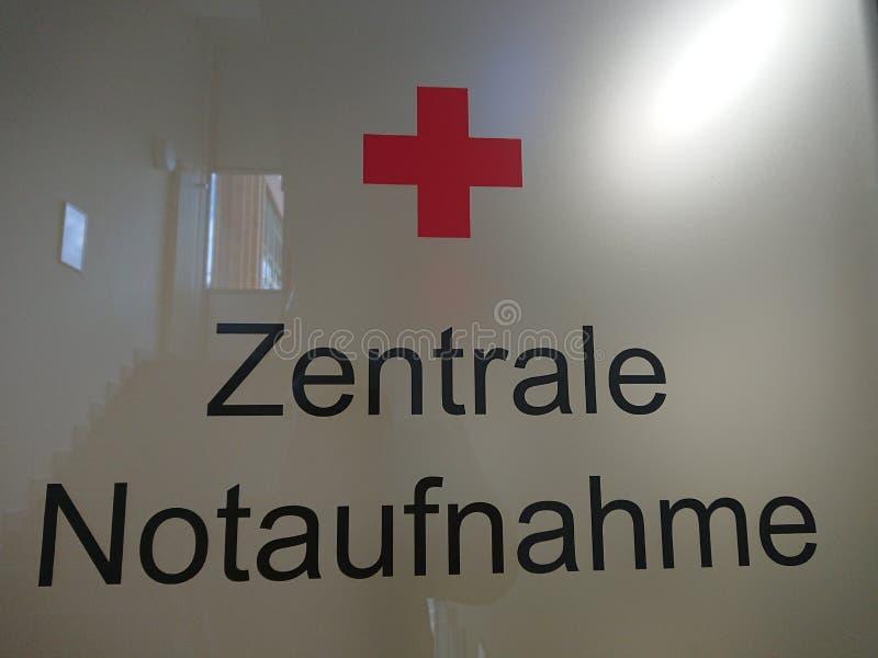 德语的中央急诊室 免版税库存图片