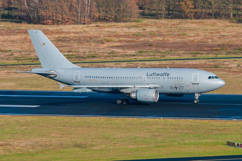 德语空军队空中客车A310 免版税库存照片