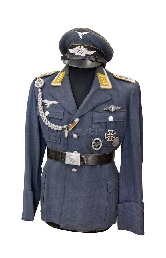 德语空军队(德国空军)的空军参谋军士制服  免版税图库摄影