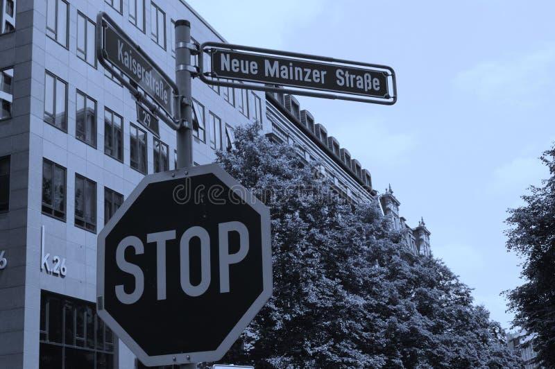 德语签署街道 库存图片