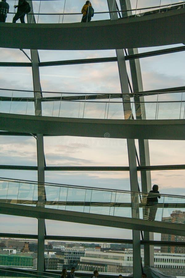 德语联邦议会圆顶  免版税库存照片