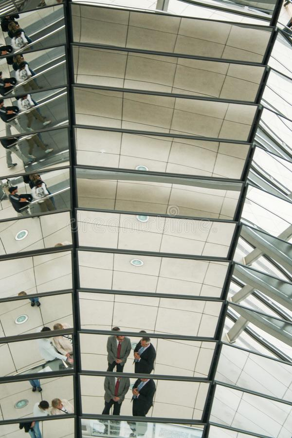 德语联邦议会圆顶  免版税库存图片