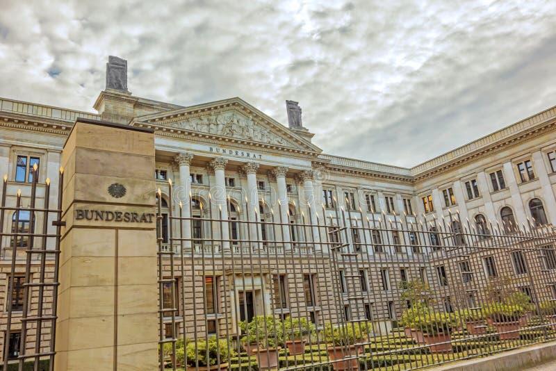 德语西德参议院,柏林 免版税库存图片