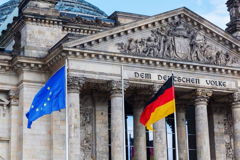 德语Reichstag在柏林,德国 库存照片