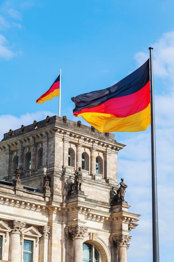 德语Reichstag在柏林,德国 图库摄影