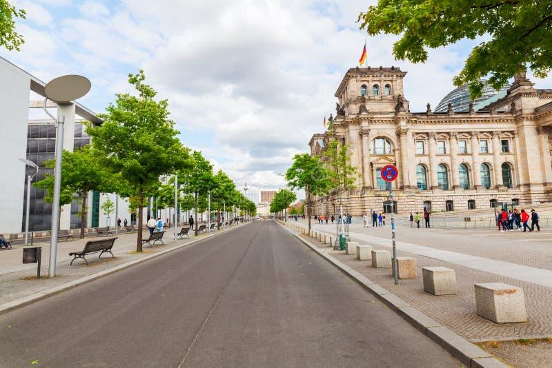 德语Reichstag在柏林,德国 库存图片