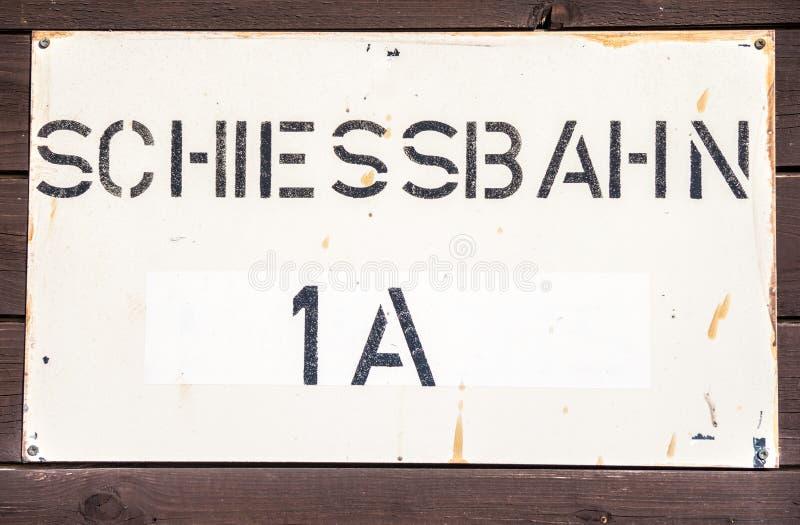德语Schiessbahn;靶场; 库存照片
