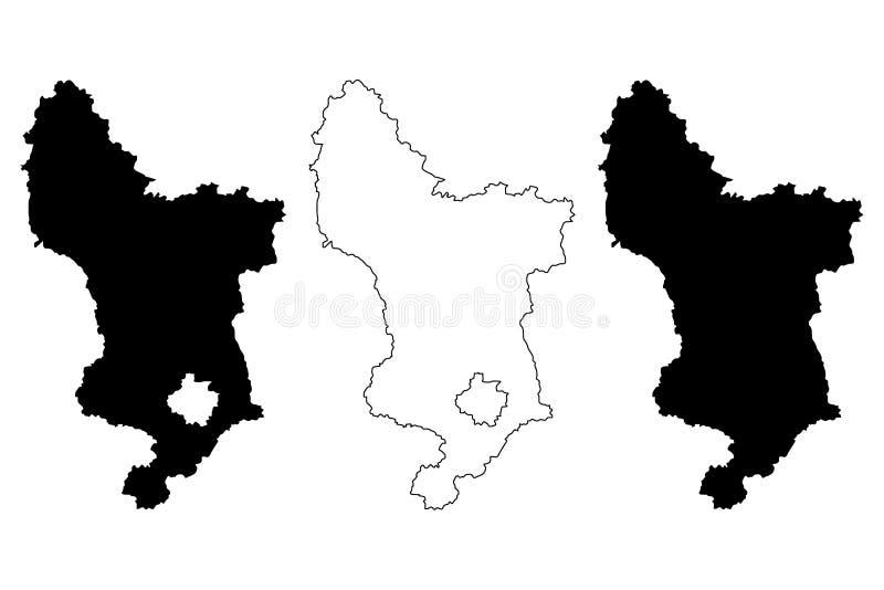 德贝郡地图传染媒介 皇族释放例证