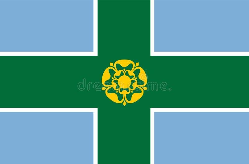德贝郡旗子,英国的县 王国团结了 向量例证