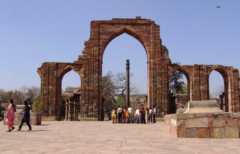 德里印度minar新的qutub 库存图片