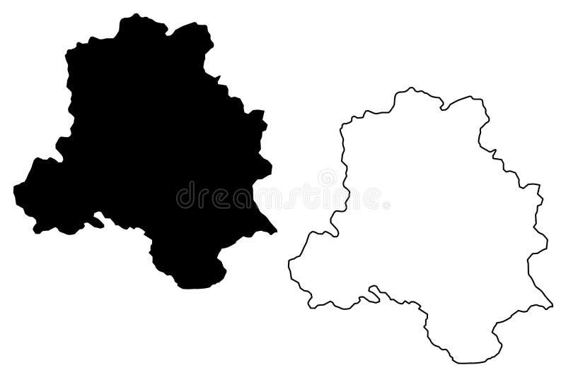 德里地图传染媒介 向量例证