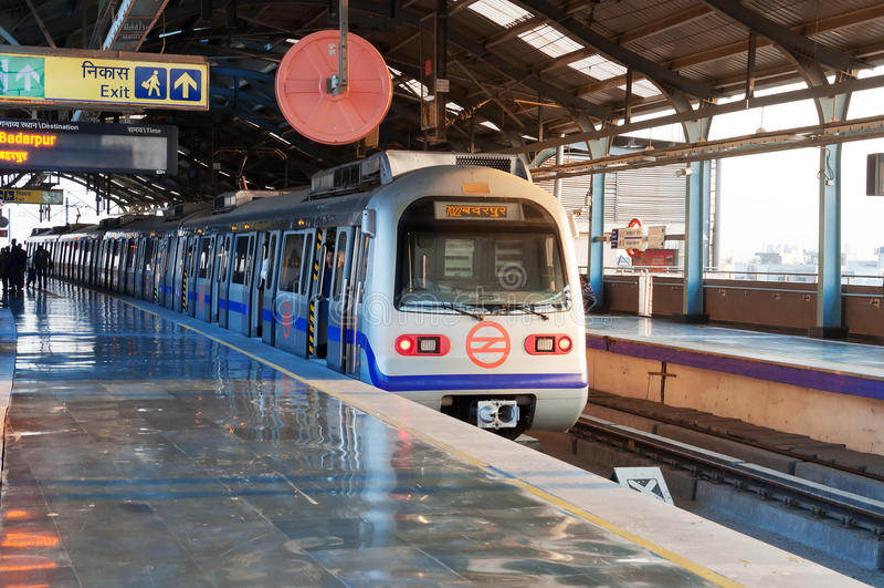 德里地铁车站 免版税库存图片