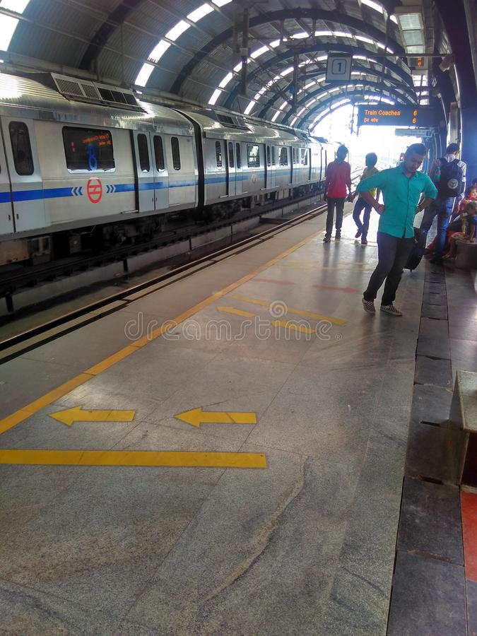 德里地铁 免版税库存照片