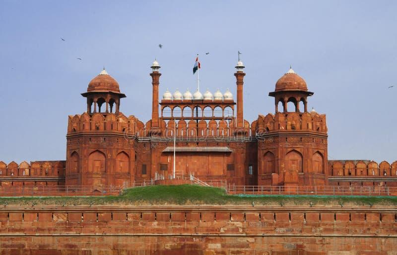 德里堡垒印度老红色 免版税库存照片