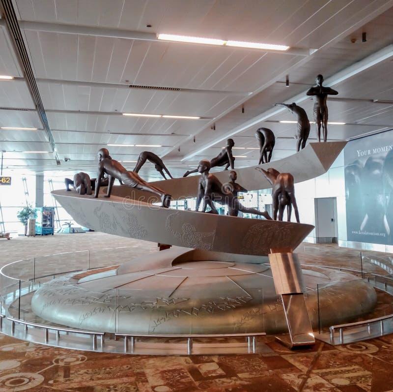 德里机场终端3 库存照片