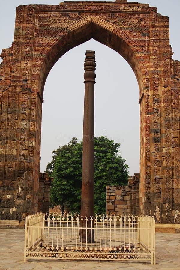 德里铁柱子 免版税库存照片