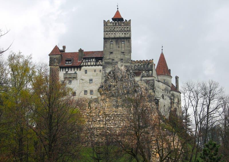 德雷库拉布兰城堡在特兰西瓦尼亚 免版税库存图片