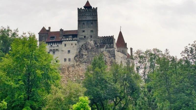 德雷库拉的令人毛骨悚然的城堡 免版税图库摄影