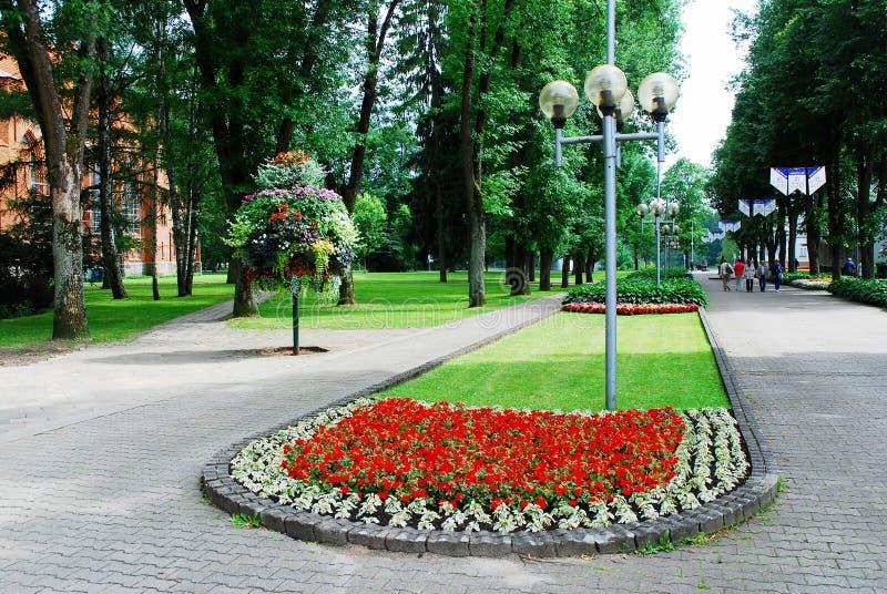 德鲁斯基宁凯是尼曼河的一个温泉镇在南立陶宛 免版税库存图片