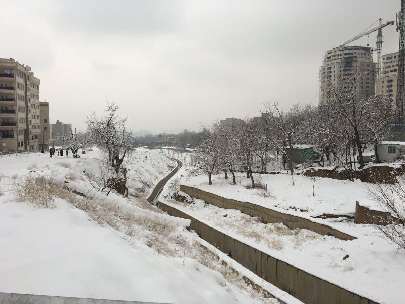 德黑兰,伊朗,冬天, KOHSAR 图库摄影