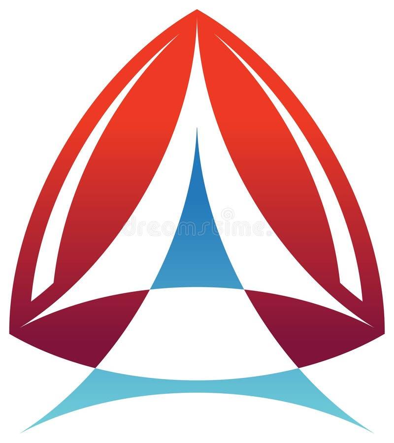 徽标三角 向量例证