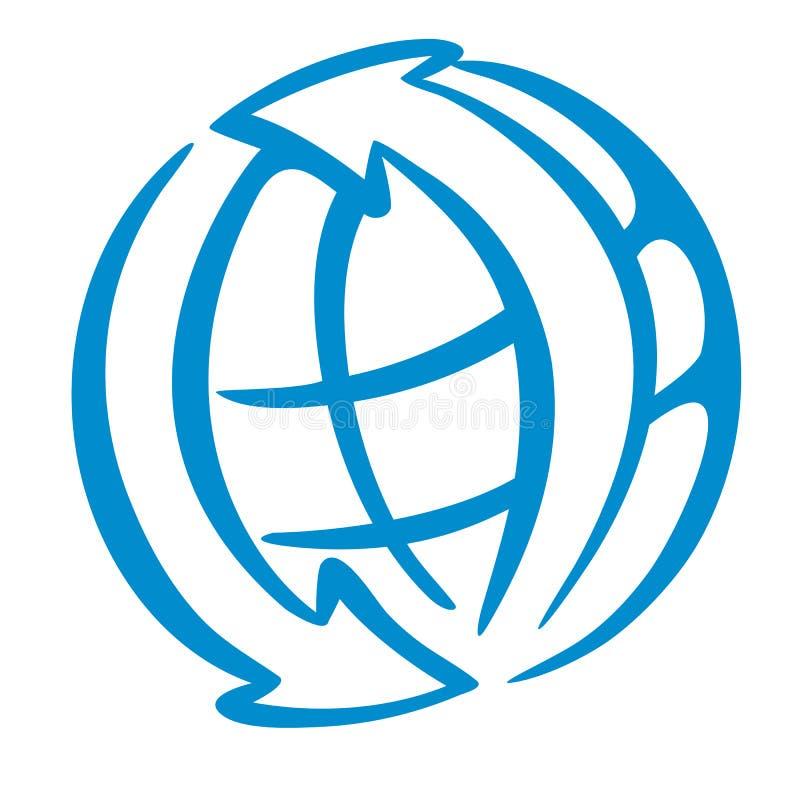 徽标世界 向量例证