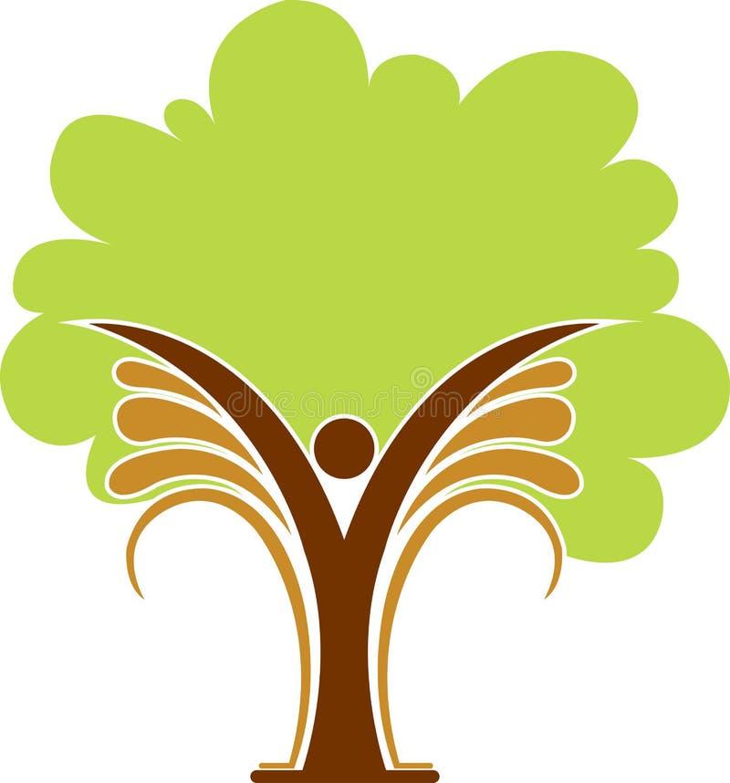 徽标人结构树 库存例证