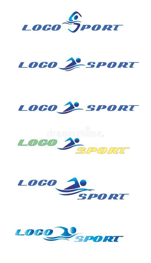 徽标体育运动游泳 皇族释放例证